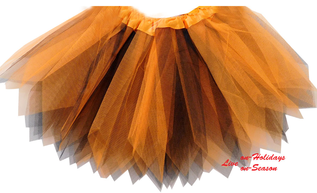 Παιδική Φούστα Tutu με Μύτες Πορτοκαλί Μαύρο 315821b  d6aa91508d0